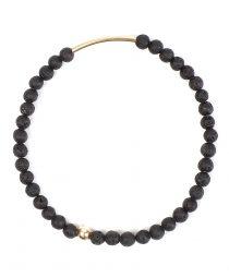 KISS bracelet lava stone