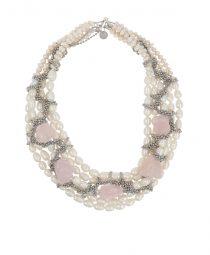 Pearls and Rose Quartz